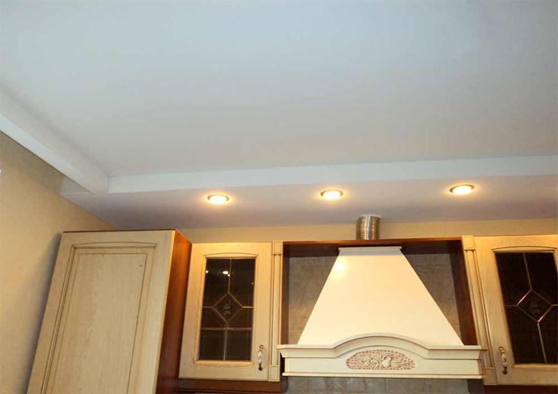 Как сделать короб на потолке на кухне с вытяжкой